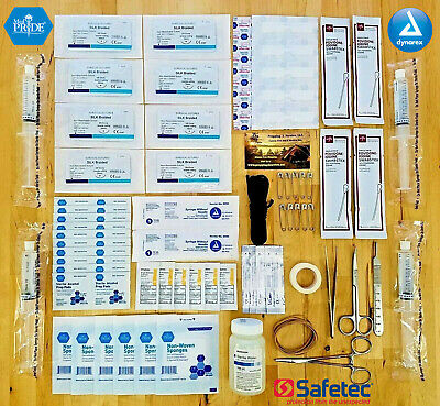 Surgical Suture Trauma Kit - Family Wound Debridement Outdoor Medical First Aid