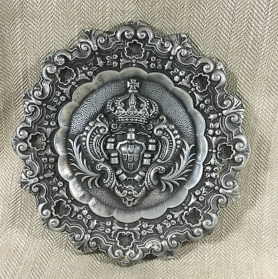 Antique Style Ornate Wall Plaque Plate Armorial Royal Crest Coat of Arms