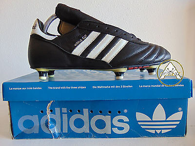 Vintage 80 ADIDAS World Cup Scarpe 9 Calcio 42.5 Soccer Shoes Boots France 90