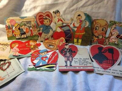 Vintage Valentines Mixed Lot L23 1930's 40's