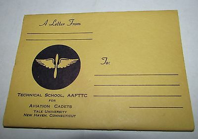 WW2 TECHNICAL SCHOOL for AVIATION CADETS NEWHAVEN CONNETICUTT LETTER BOOKLET