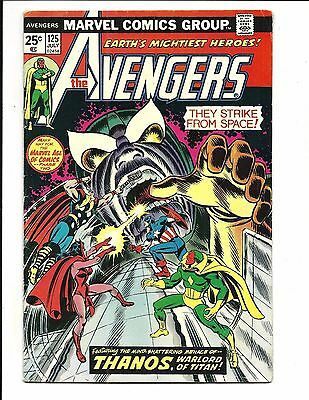 AVENGERS # 125 (THANOS COVER & BRIEF app. JULY 1974), FN