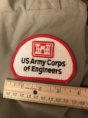US Army Gray uniform Shirt LARGE Corps of Engineers VTG 2004 tactical Dress
