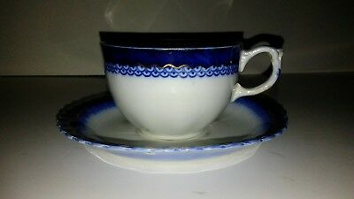 "W.H. Grindley ""The Dutchess"" Flo Blue Cup And Saucer"