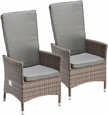 vanage relaxsessel poly rattan gartenstuhl liegestuhl hochlehner 1 2er set m bel eur 139 99. Black Bedroom Furniture Sets. Home Design Ideas