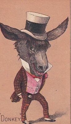 A DONKEY Hardware, Stoves &  Tinware, Rochester, N. Y. Victorian Trade Card