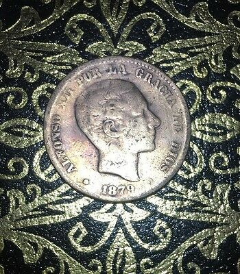 1879 Spain 10 Centimos, ALFONSO XII