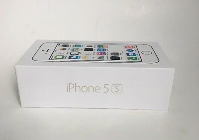 Genuine OEM EMPTY Apple iPhone 5s Box Gold Comes With Manual And Apple Stickers