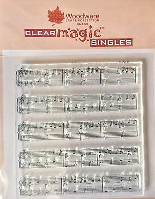 Woodware Clear Magic Sheet Music stamp JGS111