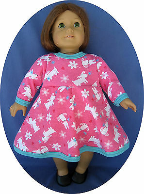 "Fits American Girl Doll Clothes DRESS 18"" doll clothes pink knit"