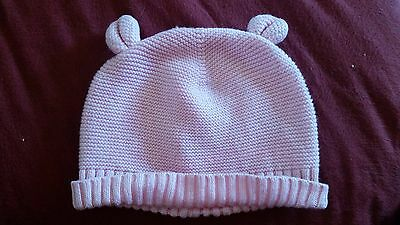 Baby Gap Baby Girl Pink Bear Ears Hat - Size 0-3 Months
