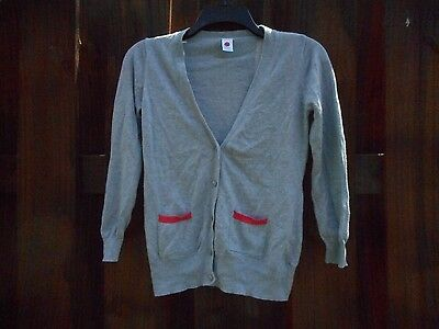 Girl's Total Girl Gray Lightweight Long Sleeve Cardigan Size Large 10-12 Youth