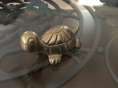 Vintage Cute Brass Turtle Small