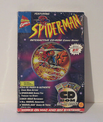 Vintage Spiderman CD-ROM Interactive Comic Book 1995 Marvel 1st Issue Sealed