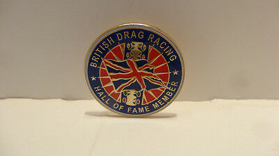 British Drag Racing Lapel Pin .. ONLY ONE ON EBAY, GOOGLE OR AMAZON  RARE