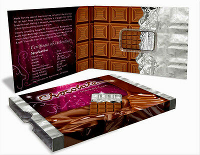 COOK ISLANDS 2014 $5 AROMATIC CHOCOLATE COIN  20 gms SILVER .999 BU
