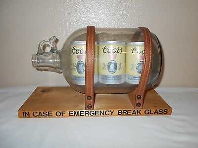 In Case Of Emergency Six Pack Coors Beer Impossible Bottle Custom Man Cave Art