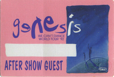 GENESIS 1992 CAN'T DANCE Backstage Pass GUEST pink