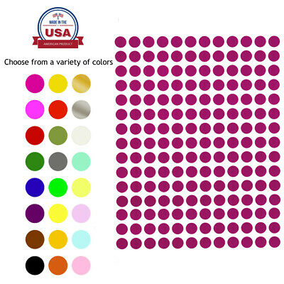 Round Stickers ~1/4 Inch 8mm Small Colored Labels Round Circular Labels 840 Pack