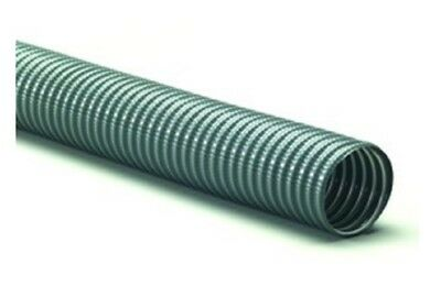 "Flexhaust MGV-R100050G Gray PVC Vacuum Hose With Coated Wire, 1"" x 40'"
