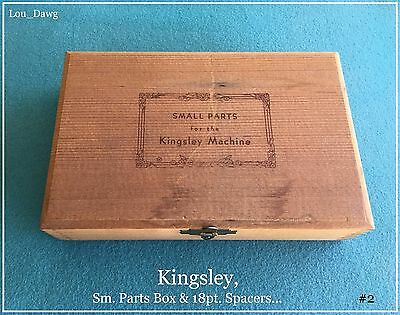 Kingsley Machine ( Sm. Parts Box & 18pt. Spacers ) Hot Foil Stamping Machine