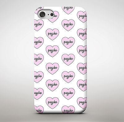Girls Psycho Love Heart Crazy Girlfriend Pink Cute Love Phone Case Cover