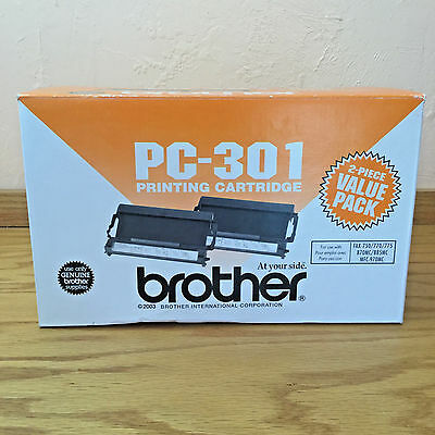 2 Genuine Brother PC-301 Printing Cartridges - 2 Piece Value Pack - PC-301 2PK