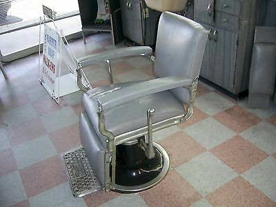 Vintage Kochs Barber Chair Works Perfect Antique Barber Shop