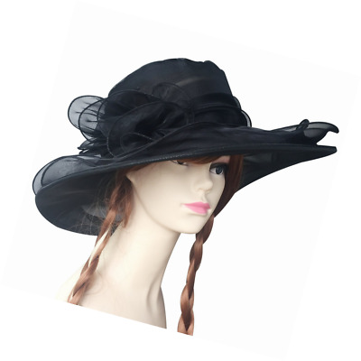 Fasker Womens Kentucky Derby Hats Organza Church Sun Hat Fascinator Bridal Tea P