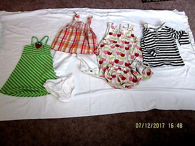 LOT OF 8 GIRL'S GYMBOREE SIZE 4 and 4T PLAYCLOTHES