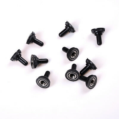 10x 6MM Black Mini Toggle Switch Rubber Resistance Boot Cover Cap Waterproof TSU