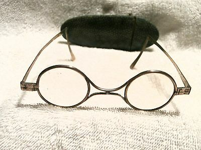 RARE FRENCH 18th CENTURY SILVER EYEGLASSES IN A SHAGREEN CASE!