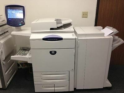 Xerox Docucolor 242 Copier Printer Scanner Network with advanced staple finisher