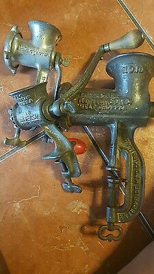 Vintage meat grinder maid enterprise lot of 3