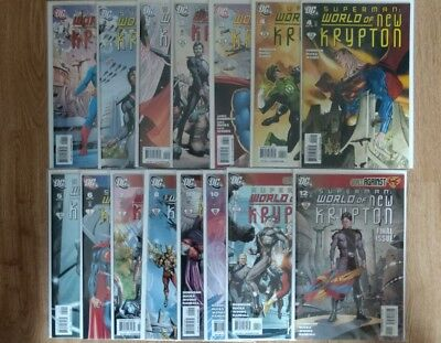 SUPERMAN: WORLD OF NEW KRYPTON #1-12 (2009-10) DC Comics Complete +Variant VF/NM