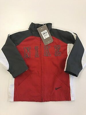 Nike Boys Warm Up Jacket 2t / 3t NWT  Toddler colors ANT red grey white