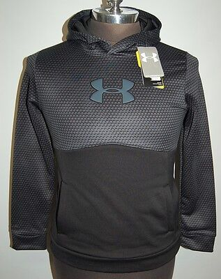 NWT Under Armour Storm Pullover Hoodie, Boys Youth LG, Awesome Design