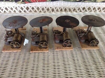Lot of 4 music box for cuckoo clock for parts or repair.