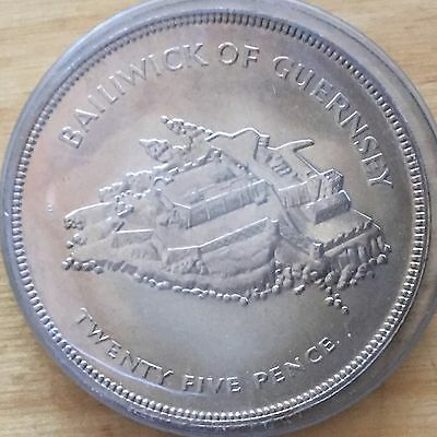 Guernsey 1977 25 Pence; KM-31; UNC (#cr106)
