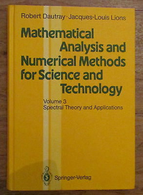 Mathematical Analysis Numerical Methods Science Technology - Dautray Lions 1990