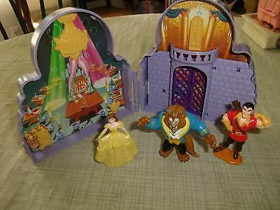Vtg Once Upon A Time Play Set Disney Mattel Beauty And The Beast  PVC Figure