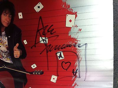 Ace Frehley Kiss Promo Poster Signed Rare Kiss Vintage Photo