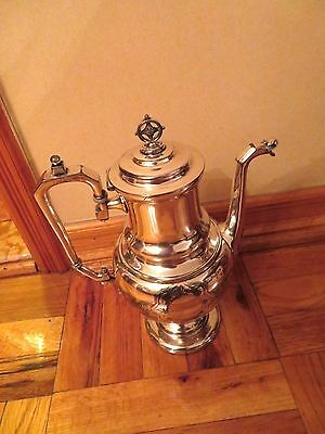 Antique Victorian Silver Plated Coffee Pot in a Style of Roman Revival