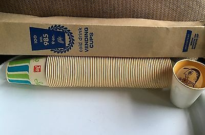 Vintage No. 985 Lily-Tulip SEVEN 7 UP SODA 9oz Vending 69 PAPER CUPS Old Stock