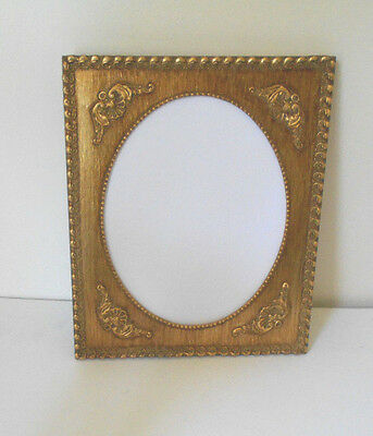 VTG GOLD GILT WOOD & GESSO PICTURE~Photo FRAME 8 X 10~wall art hanging