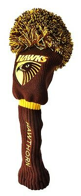 Afl Driver Pom Pom Head Cover - Official Afl Merchandise - Hawthorn - New!