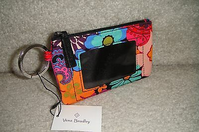 """Vera Bradley  Zip Id Case """"floral Fiesta"""" Retired Pattern!  New With Tags!"""