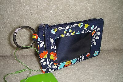 """Vera Bradley  Zip Id Case """"chandelier Floral"""" Retired Pattern!  New With Tags!"""