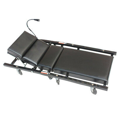 Newly Workshop Creeper Cart Soft Cushion Cot Car Repair Aid Tool With LED Light