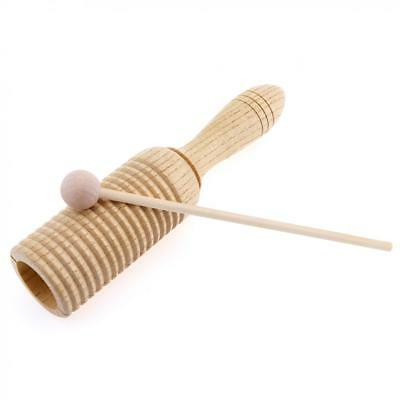Percussion Instrument Sound Tube Wood Sounder Shaker Musical Toy with Stick
